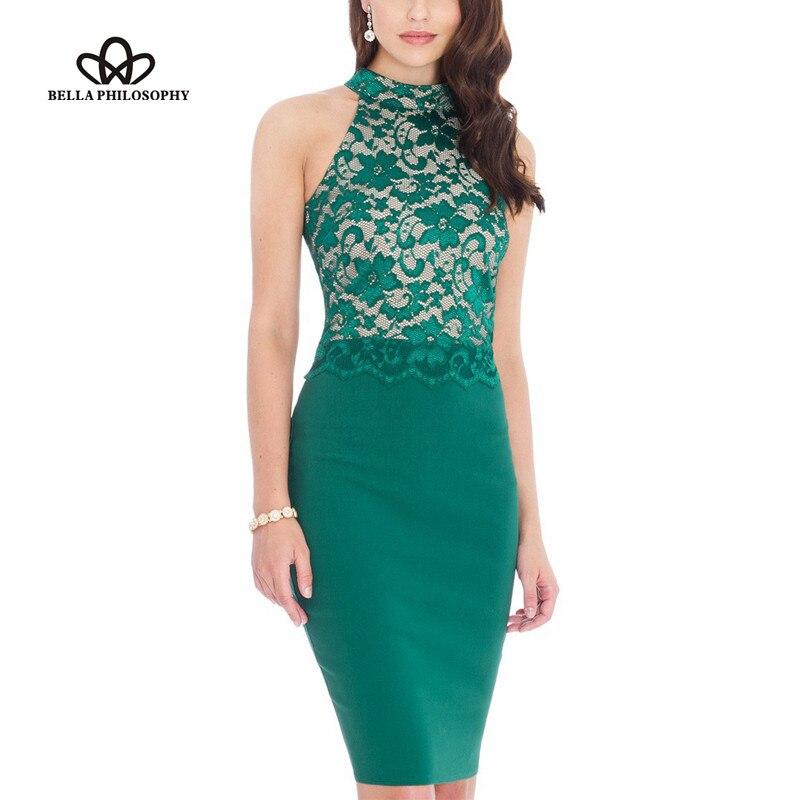 jurk kant groen