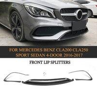 Carbon fiber Car Front Spoiler Lip Protector für Mercedes-Benz CLA Klasse C117 CLA200 CLA250 Sport Limousine 4 Tür 2016-2017