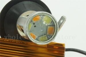 Image 5 - 2 pcs T20 7440 LED כפול צבע לבן/צהוב Switchback LED DRL הפעל אות אור שגיאת Canbus חינם