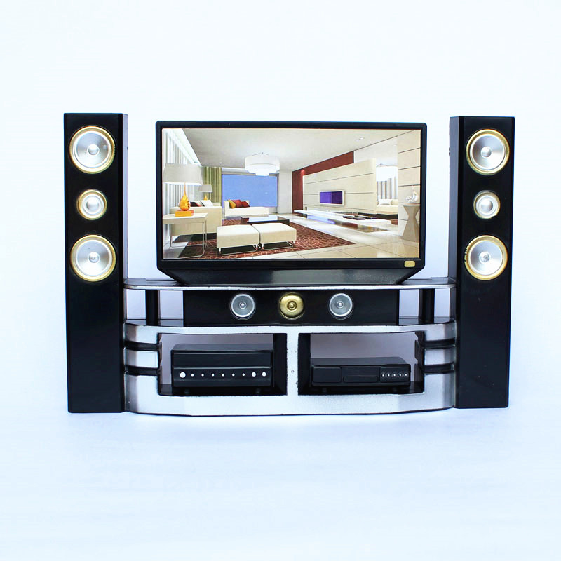 1 pc tv sound set dollhouse electrical furniture for Mini meuble tv