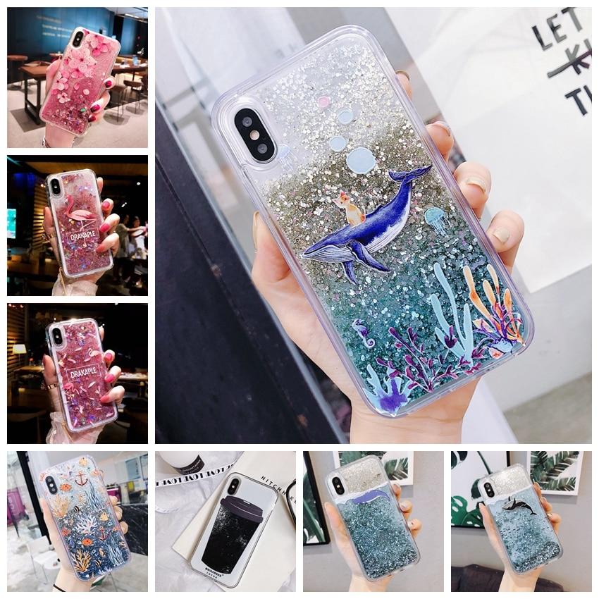Dynamic Liquid Case For Huawe Honor 9 Lite Quicksand Back Cover For Huawei P Smart Nova 2S 3 3i 3e P10 P20 Lite 8x Phone Case