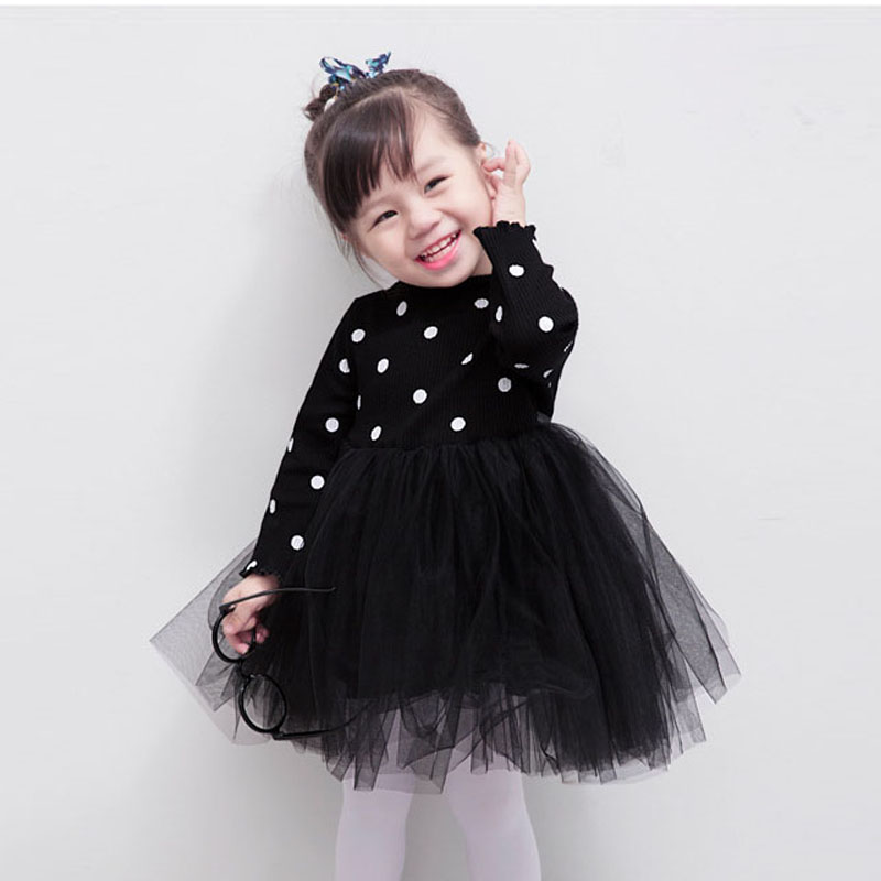 Long sleeve baby girls <font><b>dress</b></font> 3Colors 1 <font><b>2</b></font> 3 4 Years <font><b>birthday</b></font> party toddler girls clothing spring autumn girls princess <font><b>dress</b></font> image