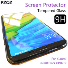 Pzoz tempered glass xiaomi mi a1 redmi note 5 screen protector full cover redmi note 5 pro Pocophone F1 A2 lite film xiomi xaomi(China)
