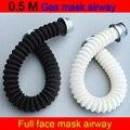 0 5 м противогаз дыхательная трубка универсальная полная маска для лица воздушная труба против распыления краски вентиляционная трубка