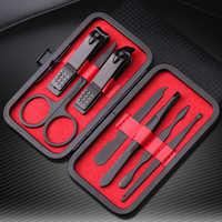 7 unids/set nueva manicura cortaúñas pedicura de viaje portátil higiene Kit de acero inoxidable cortador de herramienta