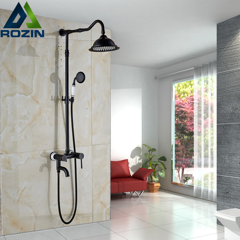 Good Quality Single Lever Bath Shower Faucet Set in-Wall 8 Rainfall Shower Mixer Tap with Rotate Tub Filler
