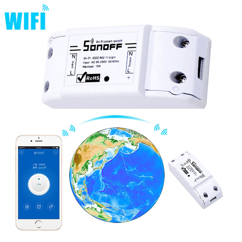 High Quality  Remote Control Version DIY Wi-Fi Wireless Switch For Smart Home With ABS Shell Mobile APP Timer Socket Remote Cont hot sale remote control wireless 3 sockets mobile phone gsm sim smart socket switch free shipping