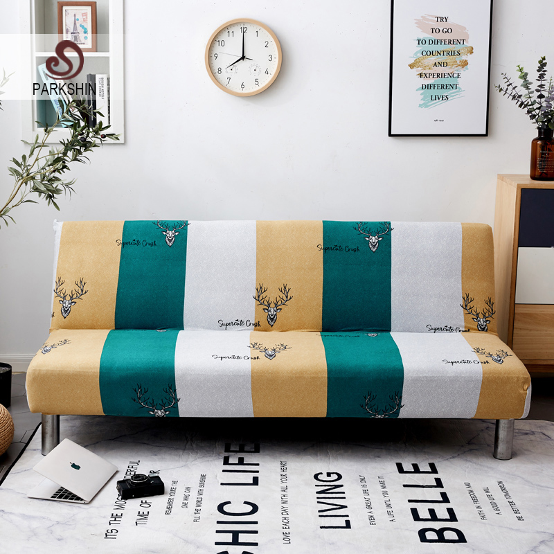 Parkshin Fashion Deer All inclusive Folding Sofa Bed Cover Tight Wrap Sofa Couch Cover Without Armrest housse de canap cubre-in Sofa Cover from Home & Garden