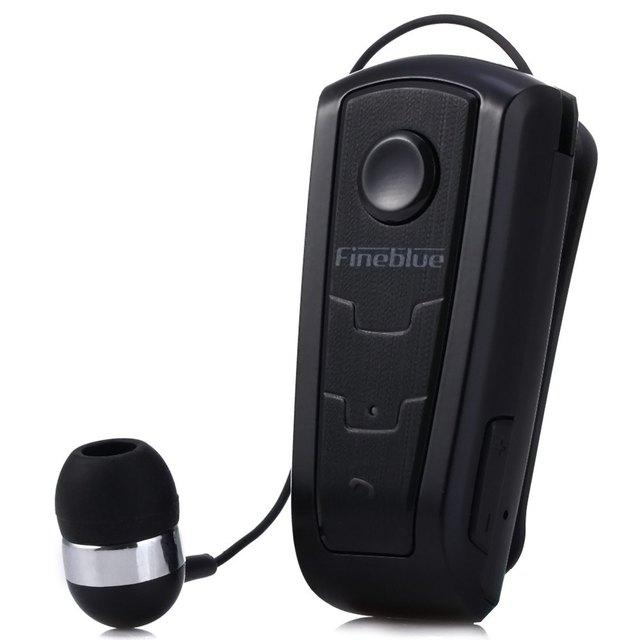 100% original en la oreja fineblue f910 wireless v4.0 auriculares bluetooth alerta vibratoria desgaste clip auricular manos libres para teléfonos inteligentes