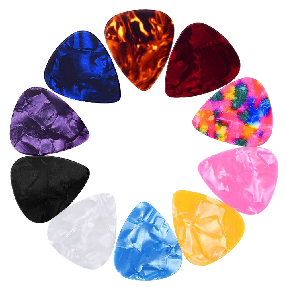 5 PCS of (Random Color 0.46mm plastic Guitar Picks Plectrums 40 Pack)