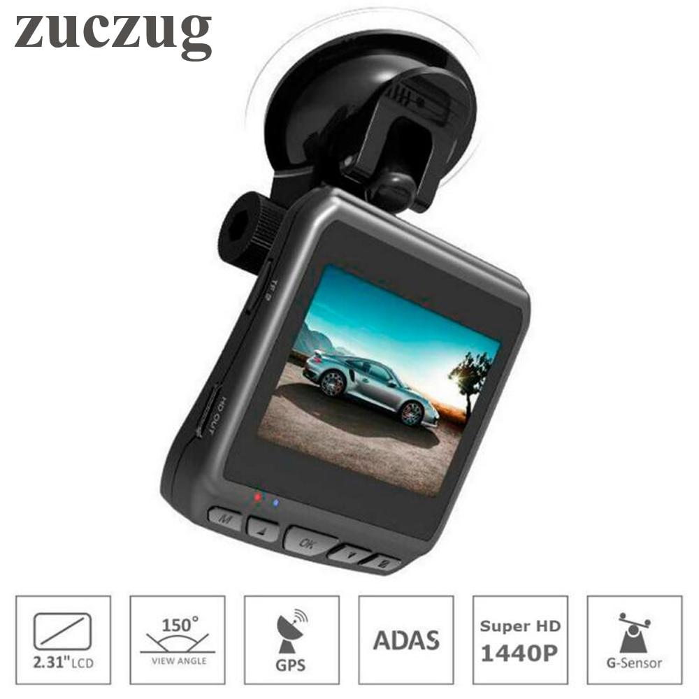 ZUCZUG Hidden Car DVR Camera Video Recorder Built-in GPS Ambarella A12 2560x1440P Super HD 2.31 inch LCD Screen Dash Cam ADAS gs98c ambarella a7la70 car dash camera super hd 2 7 inch lcd screen video dvr cam g sensor with gps module track record