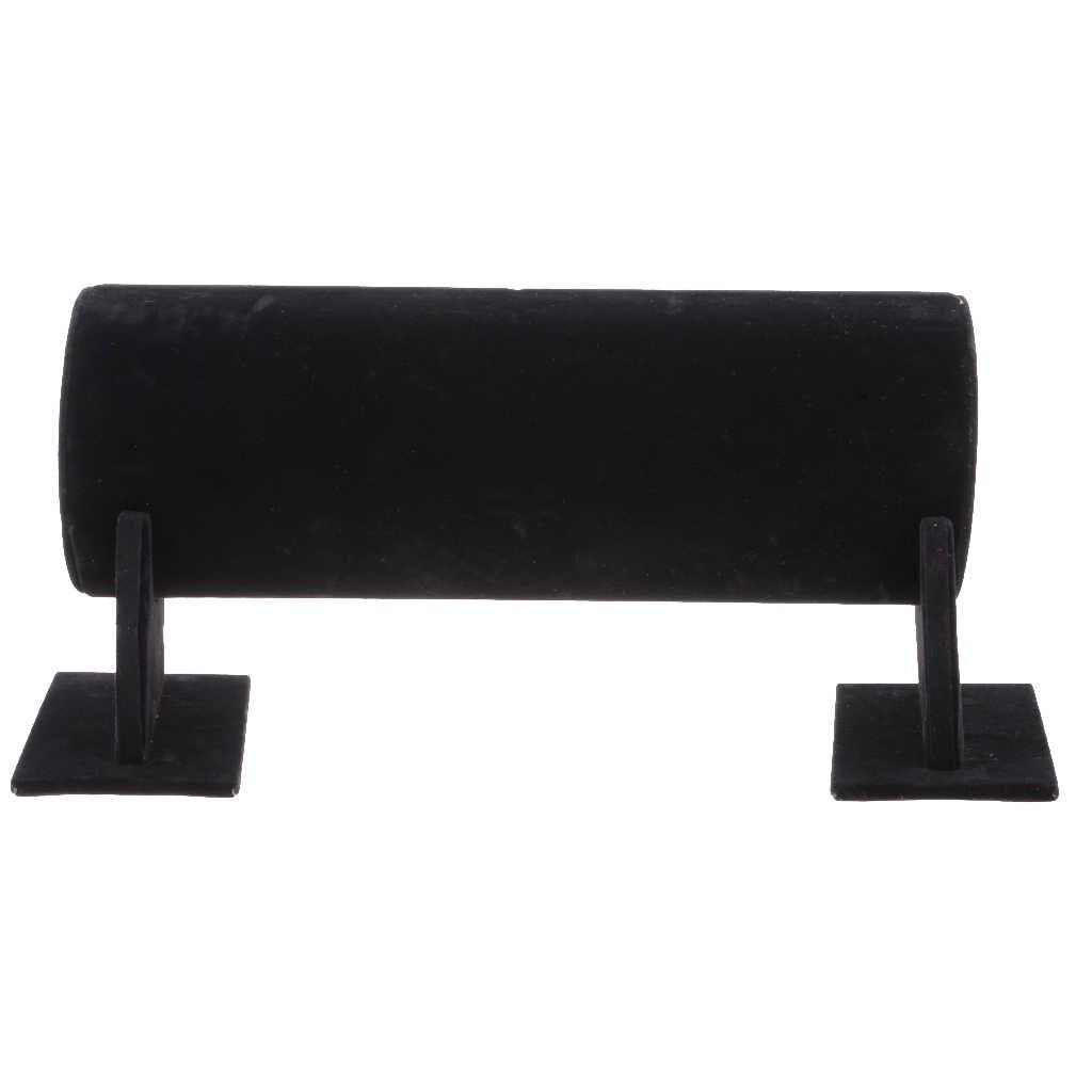 Samt T-Bar Stirnband Halter Einzelhandel Shop Schmuck Display Stand Rack