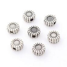 Doreenbeads бисер на основе сплава цинка Круглые античные серебряные