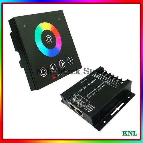 Led Rgb Controller With Wireless Rf Touch Screen Remote