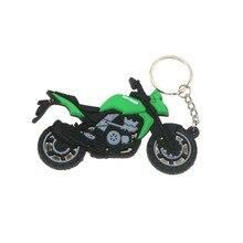 3D Аксессуары для мотоцикла, мотоцикл резиновый брелок в виде мотоцикла для KAWASAKI модель локомотива
