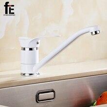 FiE Кухонный кран Смеситель Холодной и Горячей Кухонный Кран на Одно Отверстие Кран Сплав Цинка