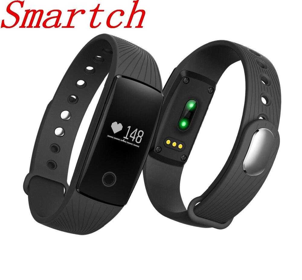 Smartch V05C bande À Puce waterpfoof Moniteur de Fréquence Cardiaque smart bracelet FitnessTracker cardiaco portable smart devices montre