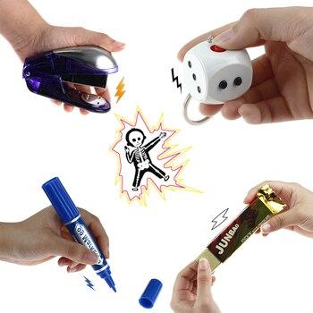 15 arten Elektrische Witz Streich Trick Lustige Spielzeug Schock Schlagstöcken Spielzeug Stick Schockierend Taschenlampe Schocker Elektrische Anti-stress Gadget