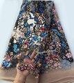 Scrawl вышивка французское Африканское кружево Тюль Ткань с 2 тюля блестки уникальный высокого качества 5 ярдов Горячая Распродажа