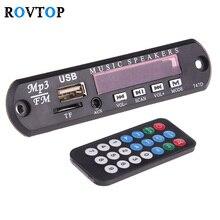 Rovtop блок питания Micro USB TF FM Радио MP3 плеер декодер доска 12 В аудио модуль с пультом дистанционного управления для автомобиля музыкальный динамик Z2