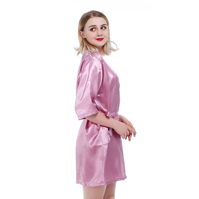 Bathrobe Satin Night Gown For Womens