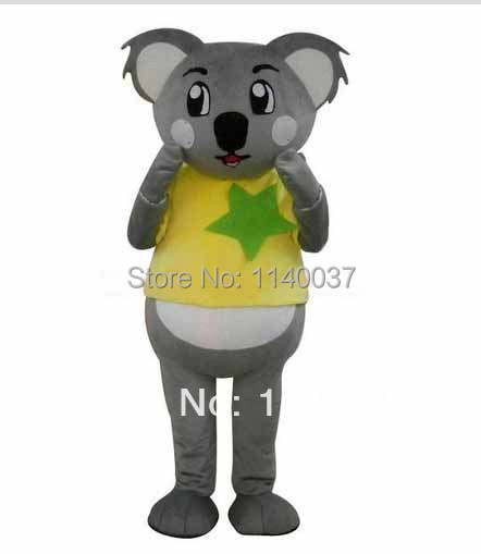 NO.1 MASCOT Lovely Custom Yellow Coat Koala Mascot Adult Cartoon Character Koala Costumes Fancy Dress Cosply Carnival Costume