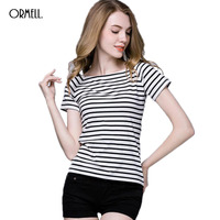 ORMELL 4 Colors Women Loose T Shirt 2017 Summer Fashion Female Short Sleeve Shirts Basic Brief