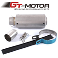 GT Motor - Universal Motorcycle exhaust MUFFLER SLIP ON EXHAUST FOR HONDA R1 R3 R6 GSXR600 ZX-6R ZX-10R