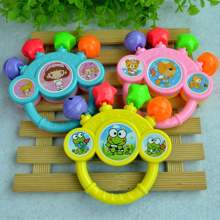2018 Cross-border baby five-finger rattle cartoon Bell rattle infant toy Best selling childrens toys
