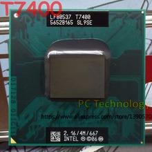 Original Intel core 2 duo T7400 Notebook processor T7400 CPU 2.16GHz/4M/667 laptop CPU free shipping