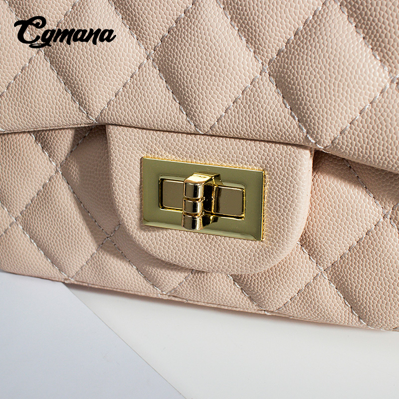 80a24cef48e65 Aliexpress.com   Buy CGmana Classic Leather Bags Women Designer Handbags  2018 Girl Shoulder Bags Lady Sac A Main Femme Handbags Women Famous Brands H  from ...