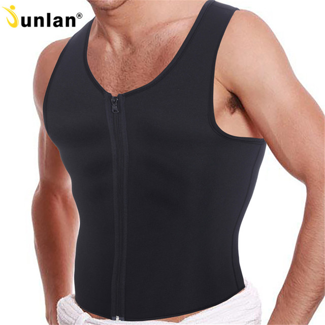 67100e366352c Hot Sweating Body Shaper with Front Zipper Burner Fat Waist Trainer Sauna  Sweat Slimming Suits Men s Shapewear Vest Tops Shapers