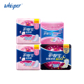 100% Cotton Sanitary Napkin Whisper Ultra Thin Pads Day Regular Flow 10pads*2pack+Night Use 6pads*1pack+Pantiliners 36pads*1pack