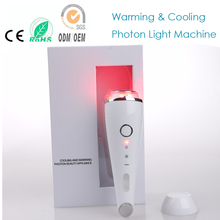 Hot Cold Vibrating Heating Blue Red Led Light Photon Acne Wrinkle Remover Shrink Pores Skin Tightening Face Eye Beauty Machine