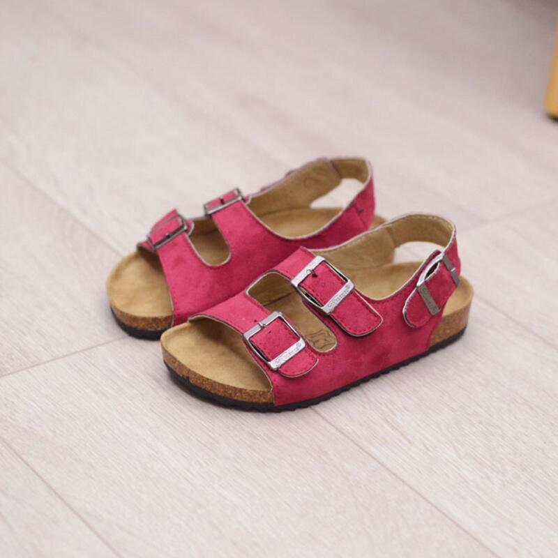 Новые маленькие мальчики сандалии пробковые сандалии для детей девочек ребенок 2016 детей двойной корк шлепанцы прилив пляжная обувь
