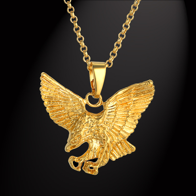 Punk eagle necklaces pendants mens gold chain wholesale colares 2017 punk eagle necklaces pendants mens gold chain wholesale colares 2017 gold color chains necklace men jewelry aloadofball Choice Image