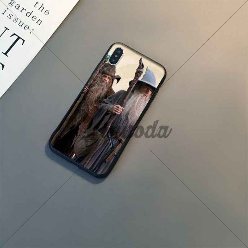 Yinuoda The Lord of Rings  Newly Arrived Black Cell Phone Case for Apple iPhone 8 7 6 6S Plus X XS MAX 5 5S SE XR Mobile Cover