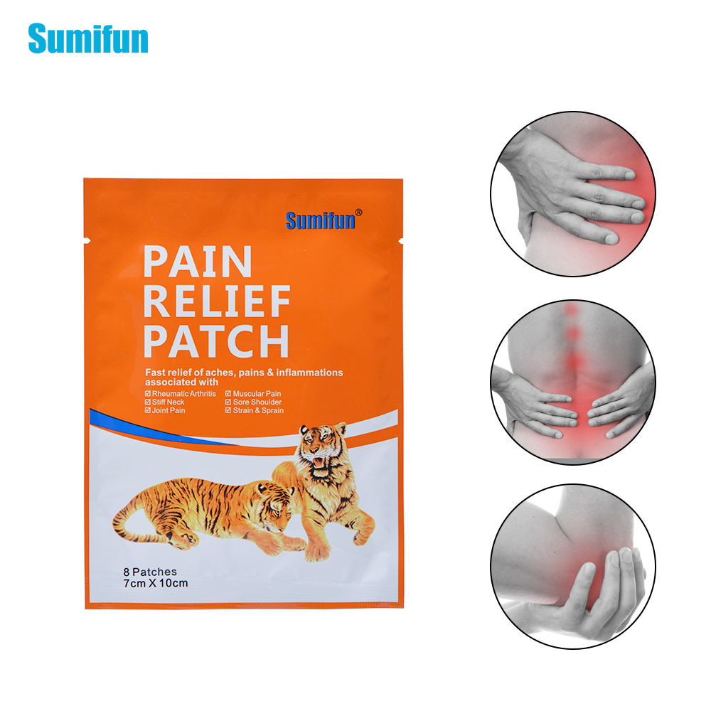 Sumifun 8Pcs/Bag Pain Relief Patch Fast Relief Aches Pains Inflammations Health Care Medical Plaster Body Pain Relieving K01301