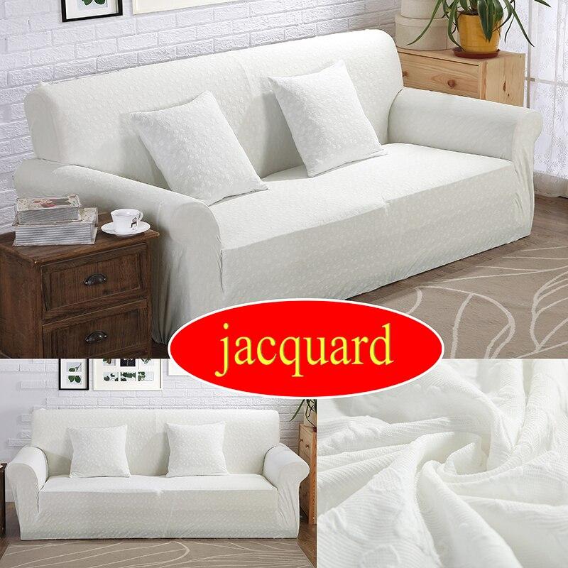Jacquard Sofa Cover Elastic Slipcover Single Two Three Four Seater Stretch Scenic Funda Sofa Couch Cover