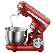 Kitchen Food Mixer 1200W 6 Speed Tilt-Head Stand Mixers with Splash Guard, 4L Stainless Steel Bowl,Dough Hook, Beater, Whisk