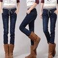 Jeans Woman plus Size Casual high Waist women jeans skinny Women Denim Pants Blue Brand trousers for womenPlus velvet 5XL 928#
