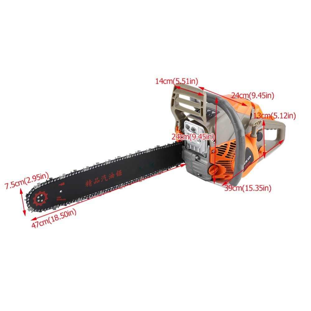 2200W 20 Cal benzyna Chainsaw cięcie drewna Grindling maszyna elektryczna szlifierka kątowa 52CC piła łańcuchowa zestaw elektronarzędzi do obróbki drewna
