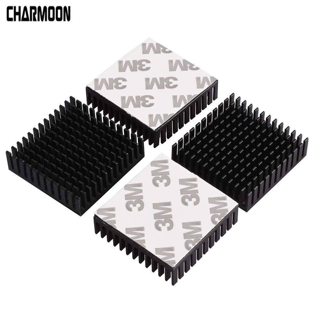5Pcs Black Radiator Aluminum Motor Heatsink Extruded Profile Heat Dissipation Electronic Heat Sink For 42 Stepper Motor 3D Print