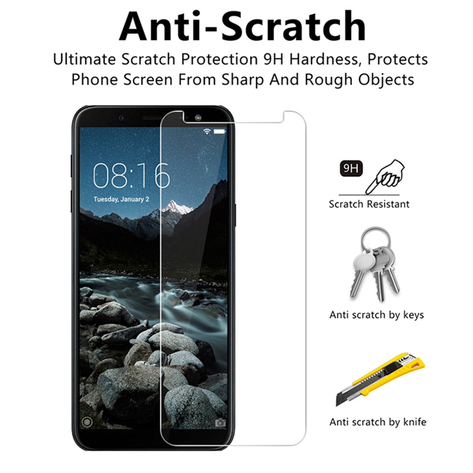 screen protector tempered glass for samsung galaxy J4 J6 Plus a7 a8 a9 2018  (2)