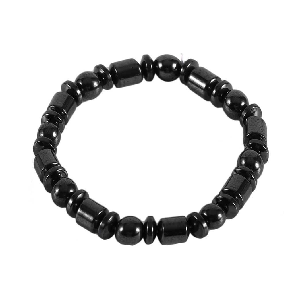 Уход за телом биомагнитный черный камень магнитный браслет для мужчин и женщин Магнитная потеря веса, здоровье браслет ювелирные изделия