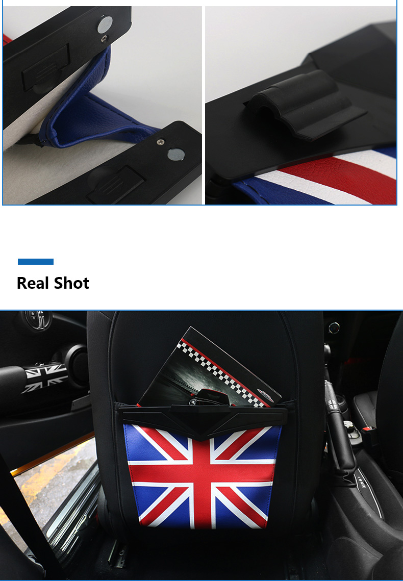 Leather Car Seat Storage Bag Trash Bag Basket for Mini Cooper R55 R56 R57 R58 R59 F54 F55 F56 F57 Countryman R60 F60 (4)