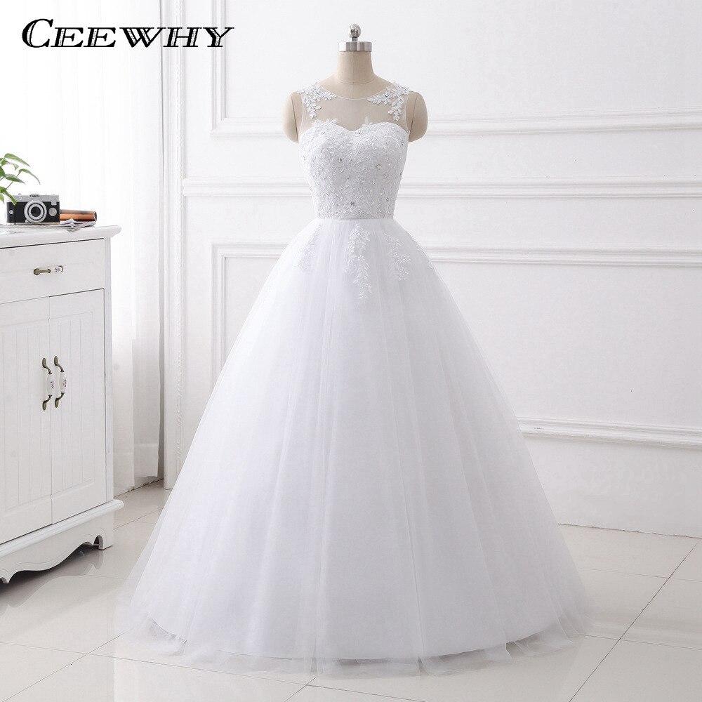 CEEWHY Real Photo Embroidery Wedding Dress Robe De Mariage Princess Luxury Crystal Bride Dresses Vestidos de Noivas Ball Gown