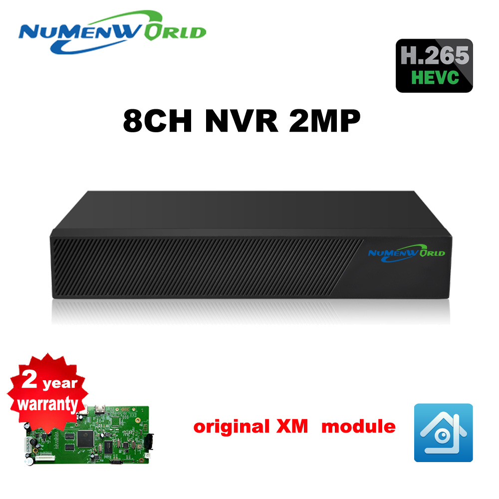 HD H.265 8CH NVR 1080P CCTV NVR security 8 Channel Network Video Recorder support ONVIF HDMI Smartphone PC for IP camera system 2 0mp 1080p zoom 5 50mm ip camera network cctv 2 8 12mm lens h 265 ip network hd onvif p2p box cameras indoor security for nvr