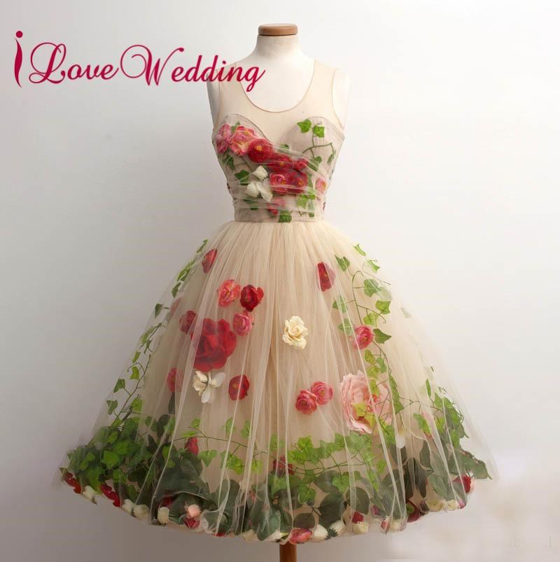 100% True Ilovewedding Elegant Spaghetti Straps With 3d Flowers Green Velour Natural Waist Orange Tulle A Line Cheap Long Prom Dresses 201 Weddings & Events