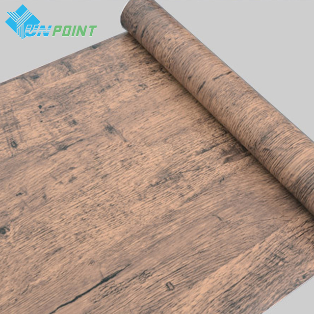 5 10m self adhesive wood grain wallpaper waterproof old furniture vinyl stickers wooden door wardrobe